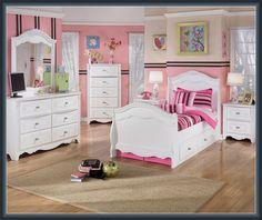 Kids Bedroom : Ashley Furniture Bedroom Sets For Kids Kids Bedrooms White Twin Bedroom Set, Sleigh Bedroom Set, Kids Bedroom Sets, Bedroom Themes, Girls Bedroom, Bedroom Ideas, Bedroom Decor, Bedroom Makeovers, Girl Rooms