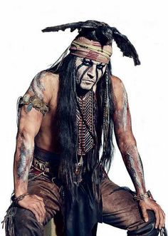 "Johnny Depp in "" Lone Ranger"" as Tonto"