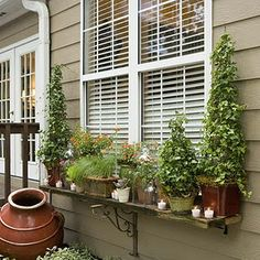 outdoor window shelf