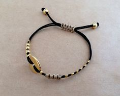 Gold Plated Button Connector and Beads Friendship by IzouBijoux
