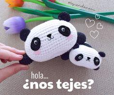 Oso panda kawaii amigurumi. Video tutorial del paso a paso