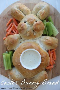 Easter Bunny Bread Recipe and Tutorial – Veggie Tray for Spring #easter #bread #recipe #bunny #rabbit