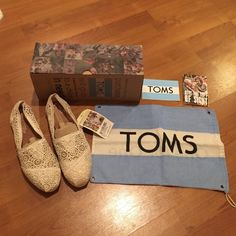 NEW! TOMS Crochet Size 8 NWT TOMS Crochet Shoes. Never wore them. They're half a size too big for me. They are in new condition with tags attached. 💕 No trades, please 🌻 Price firm. TOMS Shoes Flats & Loafers