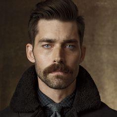 Mustache Styles, Beard No Mustache, Man With Mustache, Hair And Beard Styles, Short Hair Styles, Long Beard Styles, Types Of Facial Hair, Short Beard, Modern Gentleman