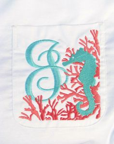 Beach cover up with seahorse coral design - swimsuit cover up - personalized
