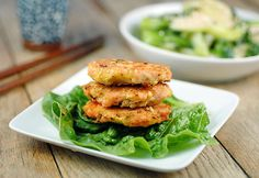 These Sesame Salmon Burgers are high in protein and pair quite nicely with my Garlic Ginger Bok Choy recipe.