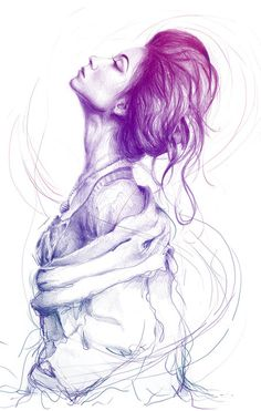 Pencil drawing by Olechka