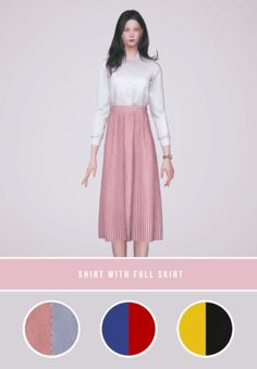 Shirt With Full Skirt for The Sims 4