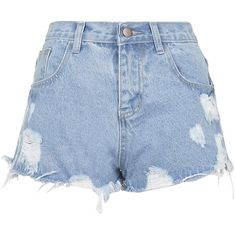 58278c80bb1 TOPSHOP   Kyoto Ripped Denim Shorts by Jovonna ( 27) ❤ liked on Polyvore