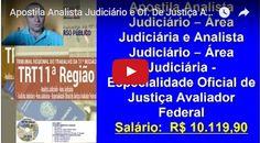 Apostila Analista Judiciário e Of. De Justiça Aval. Federal  Concurso TRT 11ª  Região | Classificados Grátis – Free Classificados