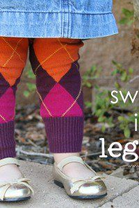 learn how to turn an old sweater into cozy leggings for your little ones!