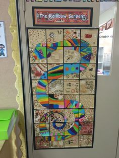 The Rainbow Serpent - Aboriginal Dreamtime stories Grade 3 Art lesson Aboriginal Art For Kids, Aboriginal Dreamtime, Aboriginal Education, Aboriginal Culture, Art Education, Indigenous Education, Aboriginal Symbols, Aboriginal Artwork, Aboriginal Artists