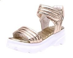 Lesrance Summer Women's Peep-toe Wedge Strap Dress Sandals Color Gold Size 7. Check website for more description.