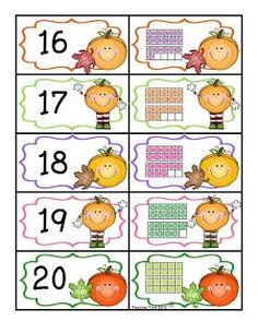 FREE!  Pumpkin Patch Number to Quantity Matching Game.  Great for preK and kinder.  The directions include 2 different versions of play.