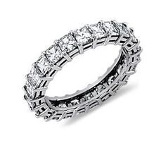Asscher Cut Diamond Eternity Ring in Platinum (3 ct. tw.) 5 yr anniversary?!