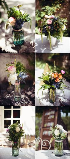 rustic and simple floral arrangements photographer http://www.elodieciriani.com/