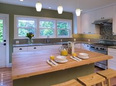 Butcher Block Breakfast Bar Can T Wait To Have Robert Do This For