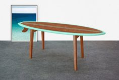 Beau Surfboard Coffee Table / Wood Surfboard Table / Surfboard Side Table / Surf  Furniture / Wood Surf Table / Surf Decor / Surfing Decor
