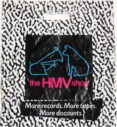 HMV Vinyl Record Shop, Vinyl Store, Vinyl Records, Music Images, Great Memories, Nostalgia, Shops, Retail, Bags