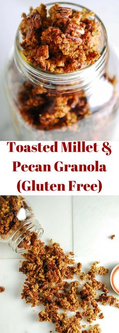 Gluten Free and Vegan Toasted Milled and Pecan Granola