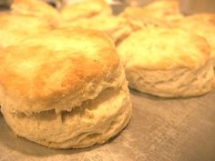 Flaky buttery homemade biscuits.  Made these for biscuits and gravy and they were perfect!