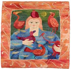 Let's Fly Away Together . A Tapestry Weaving by Kirsten Glasbrook - I love this