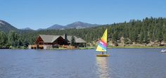 Evergreen Lake. Can rent 4-person paddle boats and canoes.