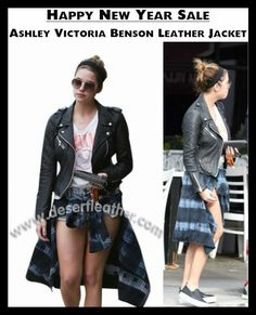 Ashley Benson Jacket is proudly presented by Desert Leather, which is manufactured by Top Quality Material. So, buy Ashley Victoria Benson Leather Jacket right now and also get Free Gifts!!  #AshleyBenson #Sexy #Hot #Holidays #NewYear2017 #WinterCostume #Outfits #Celebrity #Fashion #Cosplay #geektyrant #geek #sale #Shopping #Onlineclothingstore #WomensFashion #WomensWear #WomensOutfit
