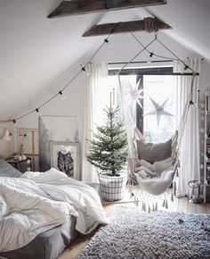 25 Warm Bedroom Decor Ideas To Warm Your Heart , . - 25 Warm Bedroom Decor Ideas To Warm Your Heart , Best Picture For warm home decor apartment therapy For Your Taste Y - My New Room, My Room, Girl Room, Bedroom Chair, Bedroom Decor, Bedroom Ideas, Bedroom Furniture, Swing In Bedroom, Furniture Ideas