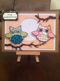 Woodware Owls - Birthday 5 x 7 card