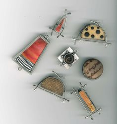 Ronna Sarvas Weltman: These bezels from Objects and Elements are perhaps most commonly used in resin projects. I took an assortment and filled them with polymer clay