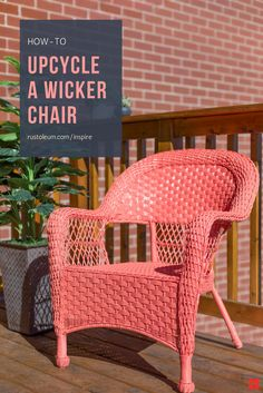 Take your patio from faded to refreshed with a lively palette of colors and finishes. You can makeover or redo your indoor, outdoor or balcony wicker furniture by painting it with Rust-Oleum Inspire Paint+Primer, available now at @Lowes.