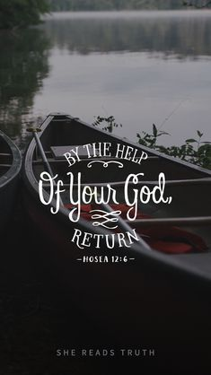 """Weekly Truth - """"So you, by the help of your God, return, hold fast to love and justice, and wait continually for your God."""" - Hosea 12:6 #shereadstruth"""