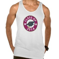 Class of 2014 Graduation Cap American Apparel Fine Jersey Tank Top Tank Tops
