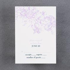 Savannah - Respond Card and Envelope weddingneeds.carlsoncraft.com