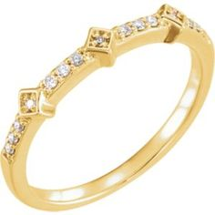 652127 / 14kt Yellow / 1/10 CTW Diamond Stackable Ring