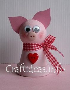 Hmm possibly could use this idea to make the kids some pig party hats for Addison's birthday!!