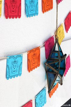 Imprimible Gratis: Mini Papel Picado para el Día de Muertos