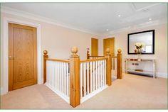 Little Gate Staircase Oak Handrail, Metal Spindles, Banisters, Refurbishment, Glass Panels, Landing, Cribs, Gate, Furniture