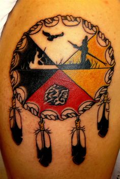 Native American tattoo Trina Mink tattoos