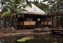 A representation of a Filipino range house Philippine Architecture, Filipino Architecture, Giant Bamboo, Filipino House, Bahay Kubo, Philippine Houses, Bamboo House, Hawaii Homes, Eco Friendly House