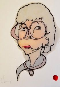 ian sklarsky blind contour drawing - sophia from golden girls Blind Contour Drawing, Contour Drawings, Drawing Drawing, Blind Art, 6th Grade Art, Continuous Line Drawing, Face Art, Art Faces, Arts Ed