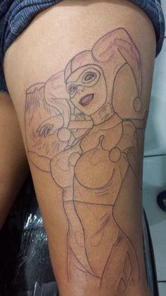 arlequina em progresso Tattoo 2015, Animals, Tatoo, Animales, Animaux, Animais, Animal