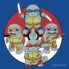 Squirtle Mutant Ninja Turtle!  #pokemon #TMNT