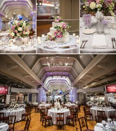 Silver Sparkle Purples And Pinks Can This Wedding Within The Henry Ford Museum