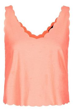 Topshop Scalloped Crop Tank available at #Nordstrom