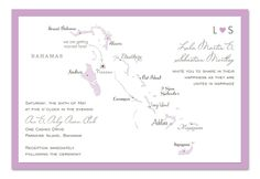 Love in The Bahamas - Wedding Invitations by Invitation Consultants. (IC-RLP-W47 )
