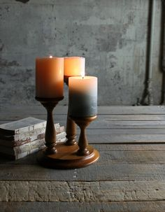 Vintage Wooden 3 Tier Candle Holder / by therhubarbstudio on Etsy