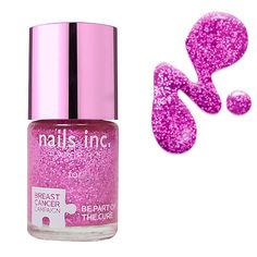 Nails Inc Pinkie Pink | #beautybaywishlist - Nothing like a little bit of pink sparkles to help raise awareness for breast cancer - love.