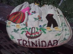 Trinidad Purse Pouch Vintage Drawstring by bonniescollectibles, $14.95